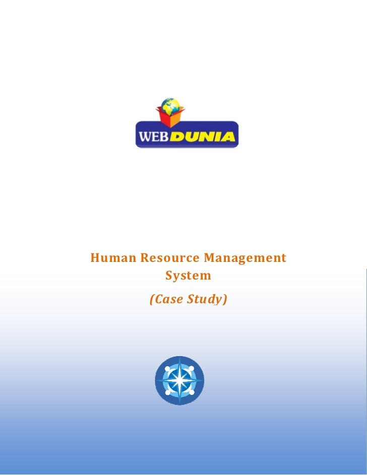 HumanResourceManagement                System               (CaseStudy)