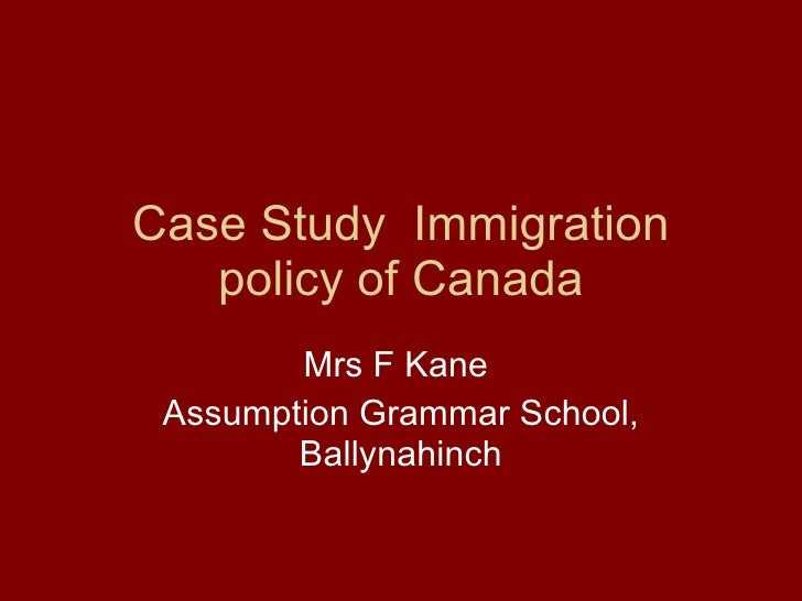 essay on canadian immigration policy