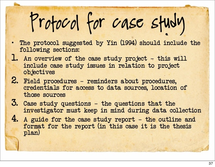 Case studied
