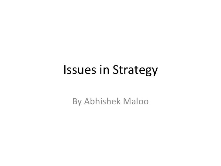 Case study issues_in strategy
