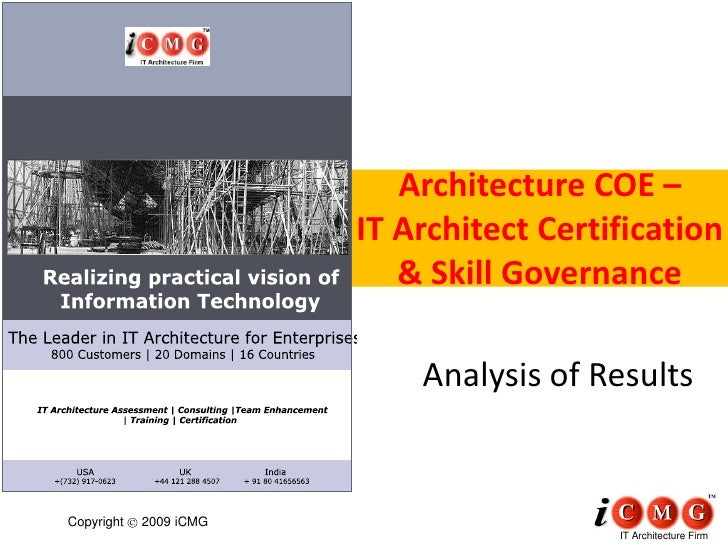 Architecture COE –                         IT Architect Certification                            & Skill Governance       ...