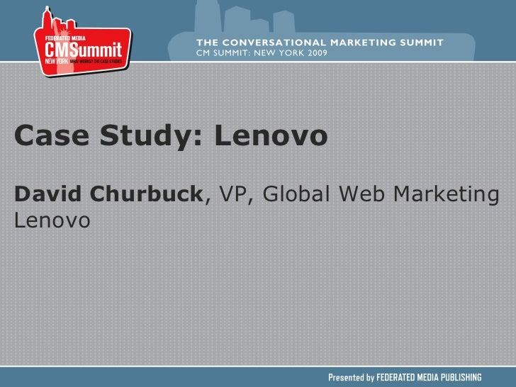 Case Study Lenovo