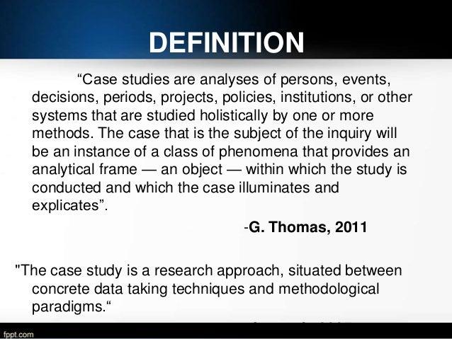 Explain case study