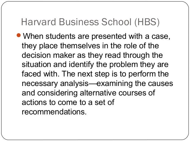 harvard case study analysis method