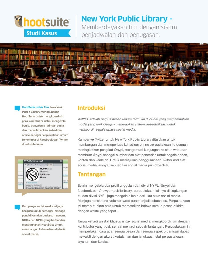 HootSuite Case Study - NYPL (Bahasa Indonesia/Indonesian)