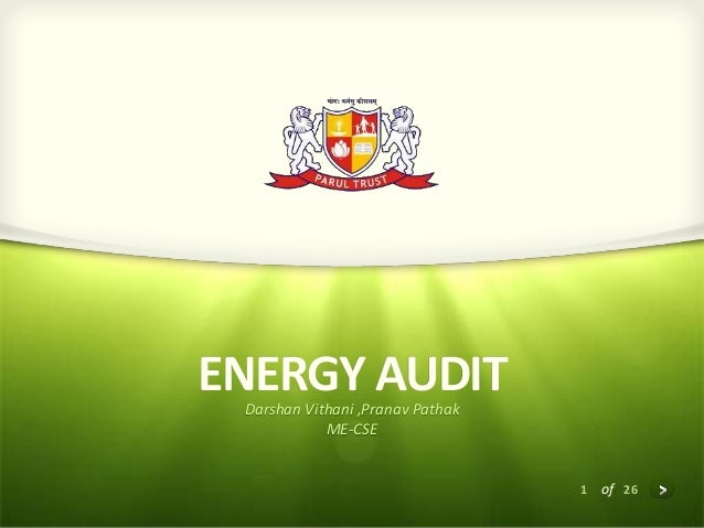 Case Study of Energy Audit