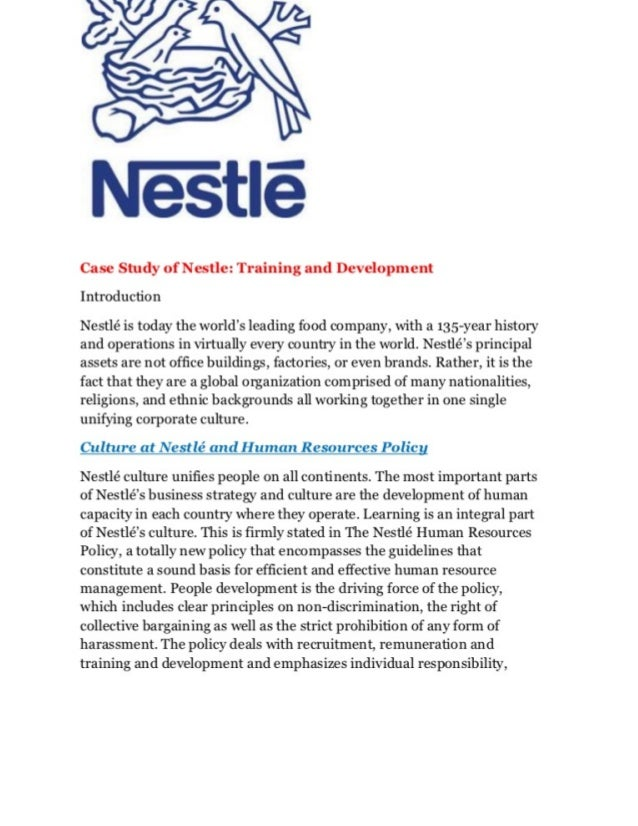 Nestle case study harvard custom written college papers