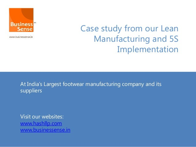 lean it case studies Kaizen and value stream mapping (vsm) events are key to lean's  this report is a compilation of 23 case studies provided by states and the epa the studies.