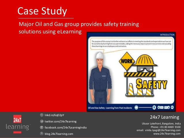 Case StudyMajor Oil and Gas group provides safety trainingsolutions using eLearninglnkd.in/6qD2pYtwitter.com/24x7learningf...