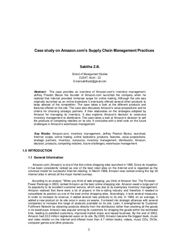 inventory management case study amazon This case study will explore a range of successes and inventory planning, and more amazon takes a six sigma approach to its human resource management at amazon.