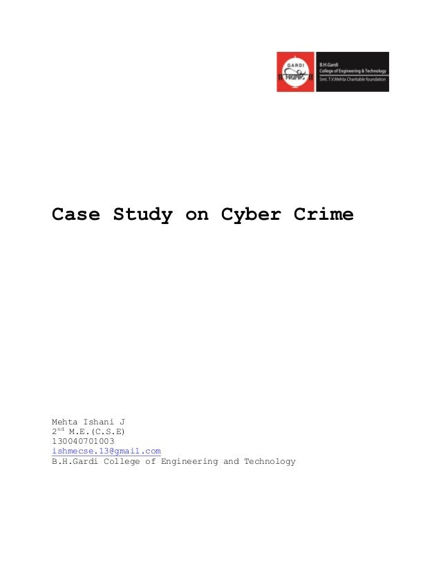 case study about crimes