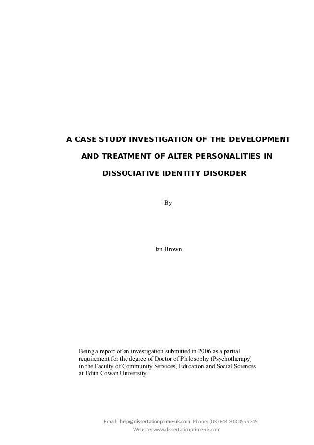 Dissociative identity disorder case studies
