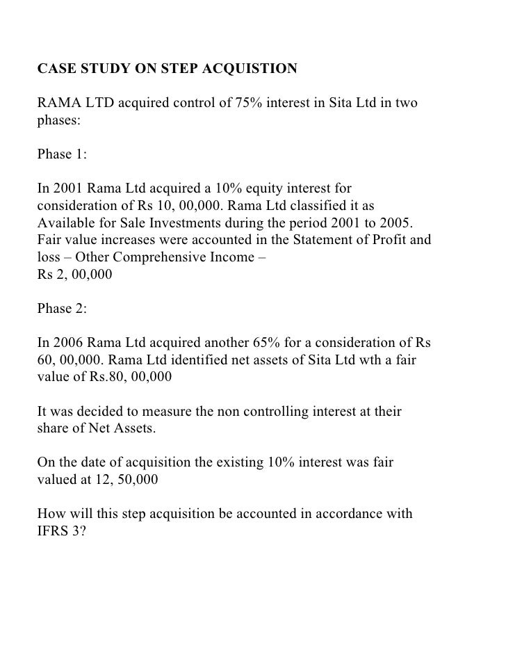 Case study on step acquisition 4