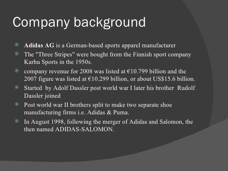 adidas case study essay Under armour case analysis essay this case study seeks to analyze under armour's because nike and adidas already have a substantial amount of capital.