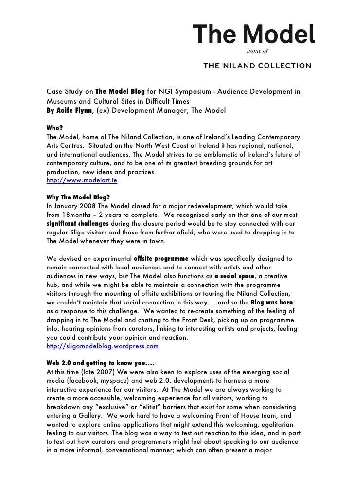 Case Study On The Model Blog For Ngi Symposium