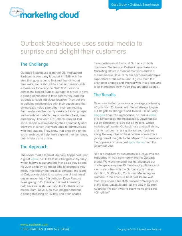 Case Study: Outback Steakhouse Uses Social Media to Surprise Customers