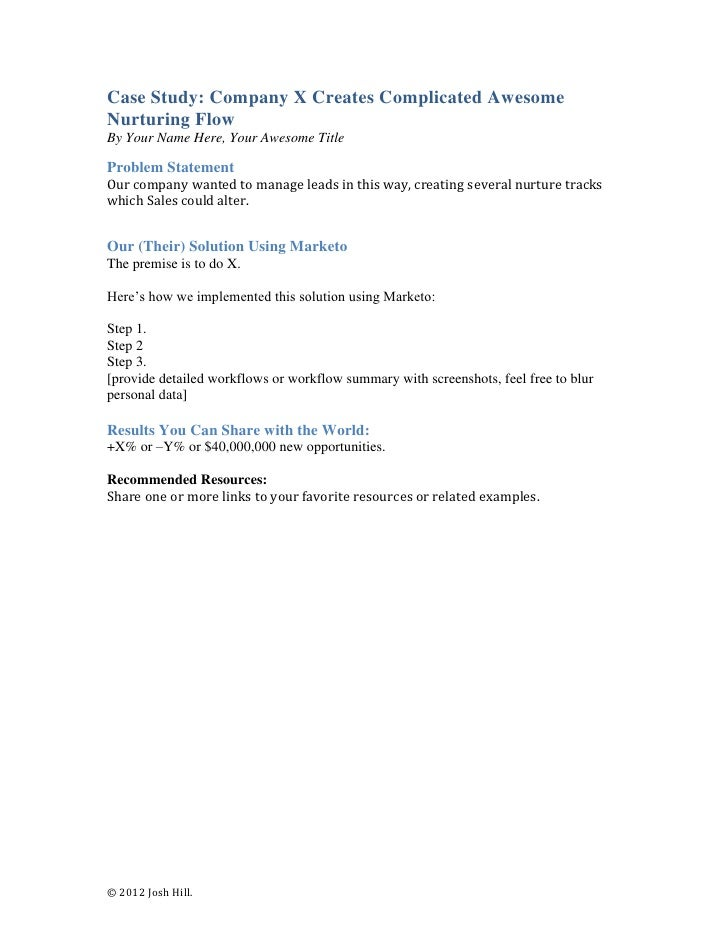 case study outline business