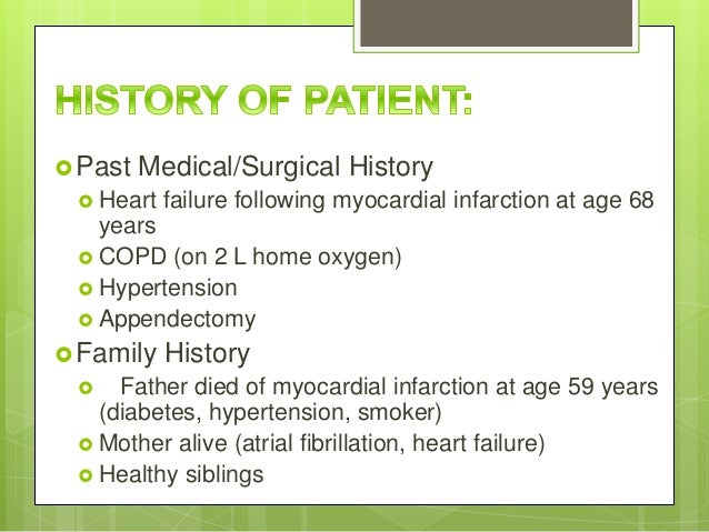 Case study patient with copd - SlideShare