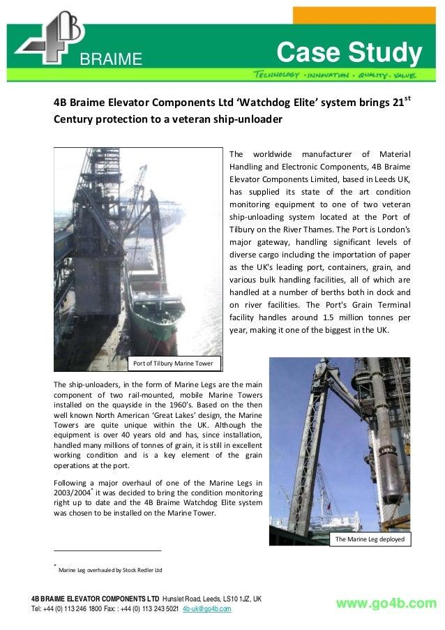 Watchdog Hazard Monitoring System at the Port of Tilbury Ship Unloader - CASE STUDY
