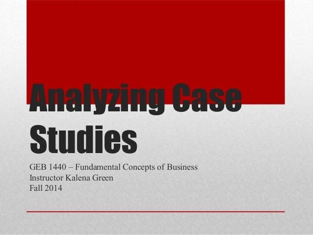 Analysing case studies