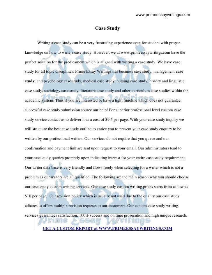 Case study | Prime Essay Writings