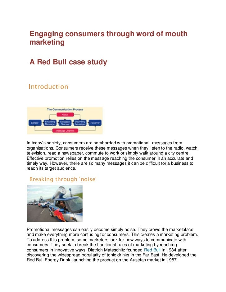 red bull case study swot analysis