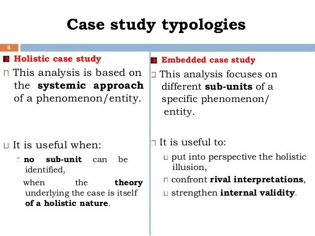 single case study research methodology Case study research one of the reasons for the recognition of case study as a research method is single-case or multiple-case design depending on the issue.