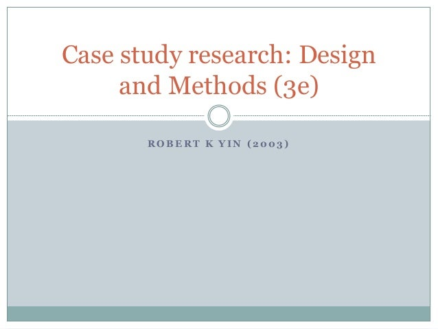 when to use case study research method