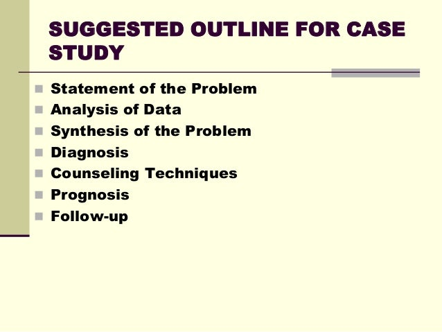 How to analyze a case study