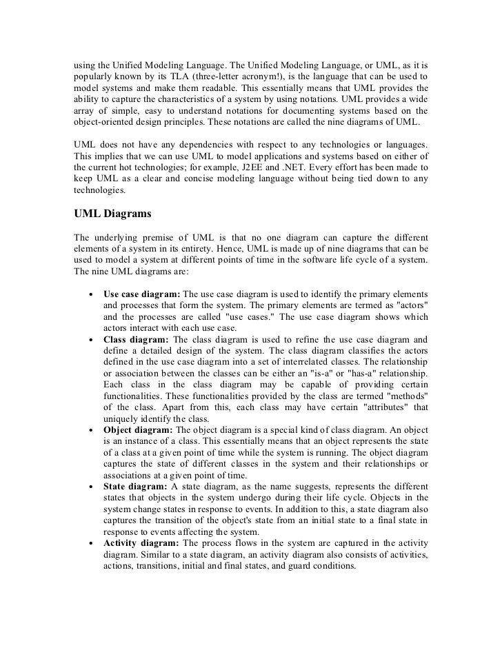 uml case study Hw-sw codesign of a positioning system from uml to implementation case study abstract: during the last years, there has been a growing interest in systems related to the location of objects into three-dimensional environments and virtual reality applications these systems, based on high-performance video -processing.