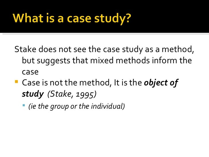 case study of research methodology