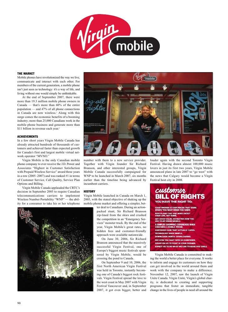 Case study virgin mobile z kanadyjskiego albumu  superbrands