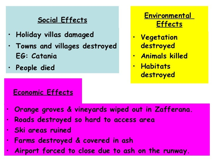 case study of volcano eruption