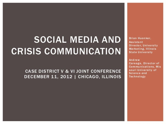 Crisis on Campus: Steering the Social Media Conversation
