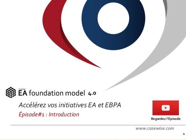 Confidentiel - © Casewise 2015 Accélérez vos initiatives EA et EBPA Épisode#1 : Introduction 1 4.0 www.casewise.com Regard...