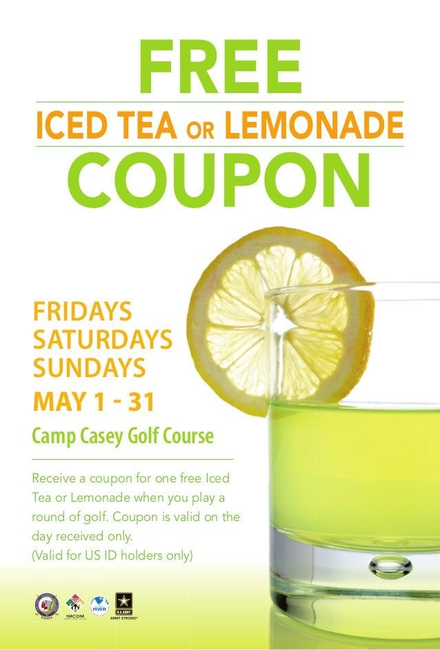 Casey Golf FREE Iced Tea