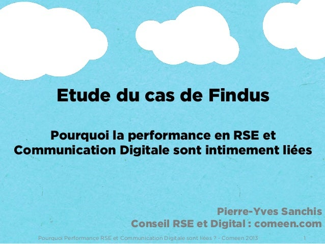 Etude de Cas : Findus performance RSE et Communication Digitale