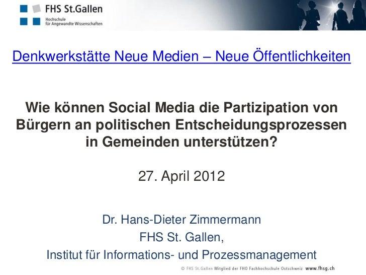 Wie können Social Media die Partizipation von Bürgern an politischen Entscheidungsprozessen in Gemeinden unterstützen?