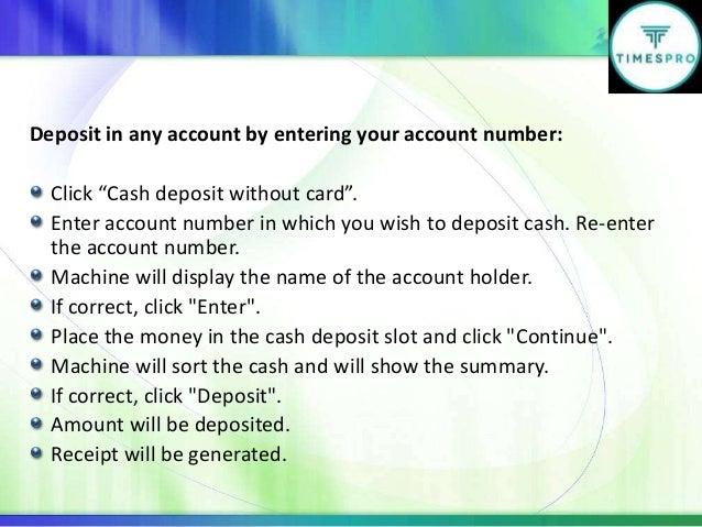 deposit machine