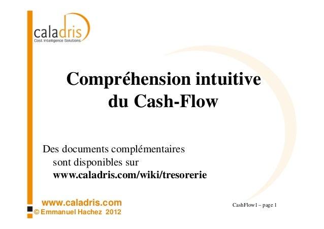 Compréhension intuitive           du Cash-Flow  Des documents complémentaires    sont disponibles sur    www.caladris.com/...