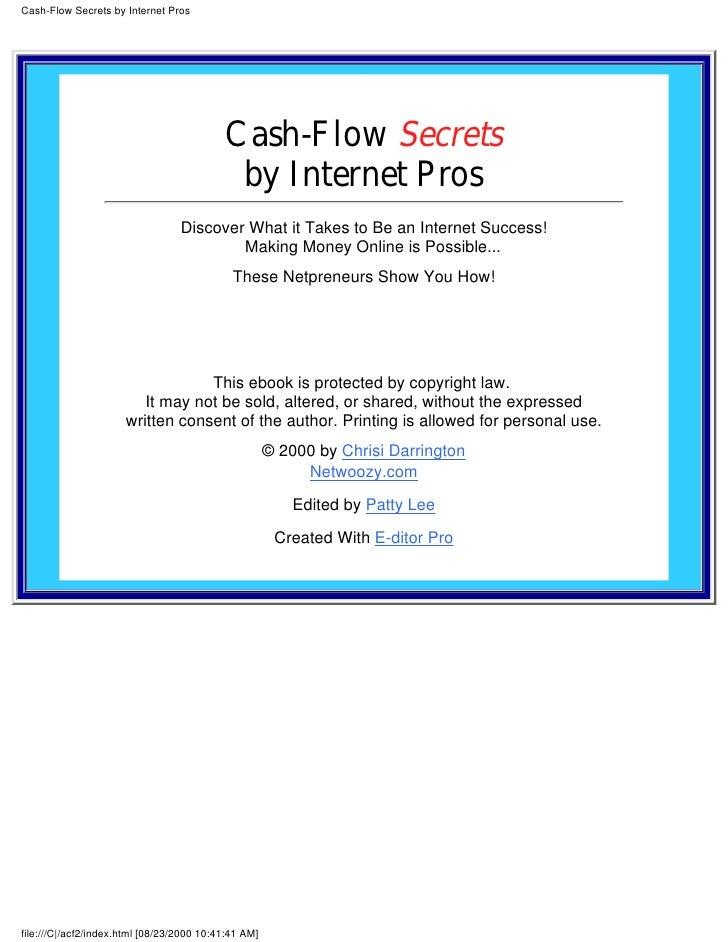 Cash flow secrets