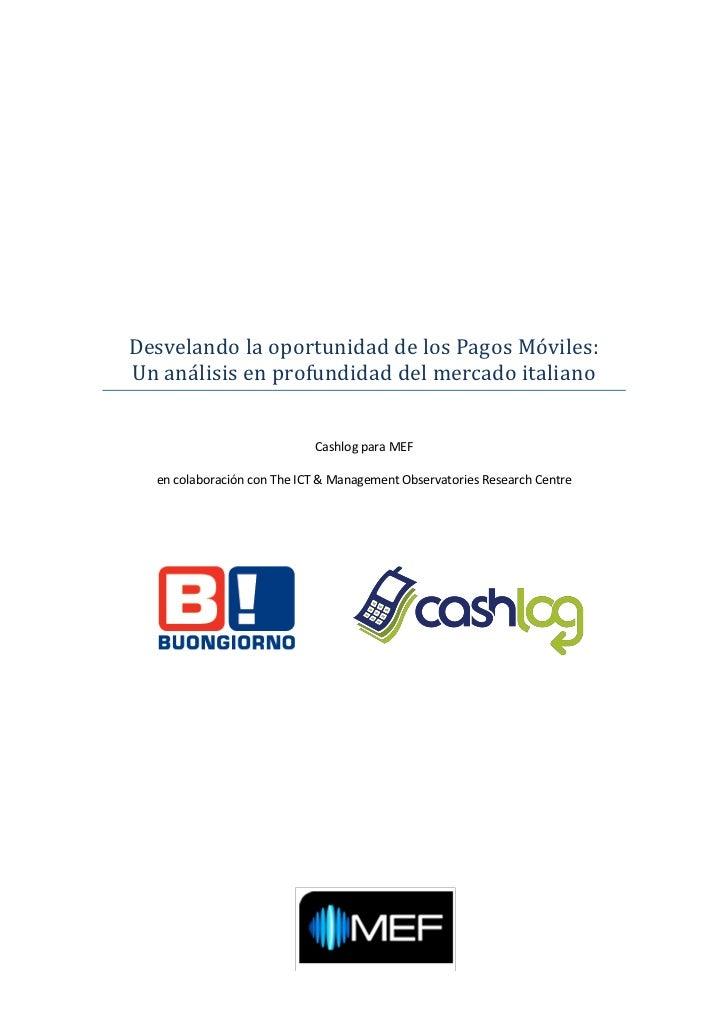 Desvelando la oportunidad de los Pagos Moviles:Un analisis en profundidad del mercado italiano                            ...