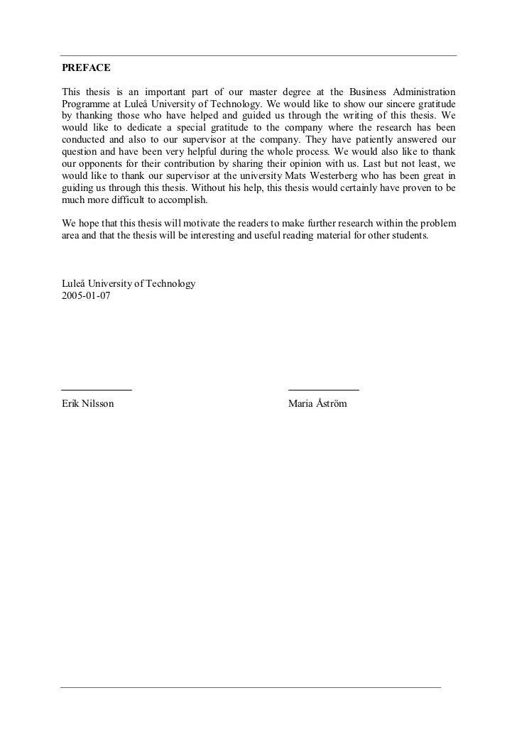 Erik nilsson thesis