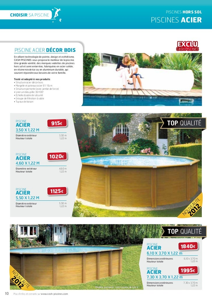 Cash piscines catalogue 2012 choisir sa piscine for Choisir une piscine hors sol