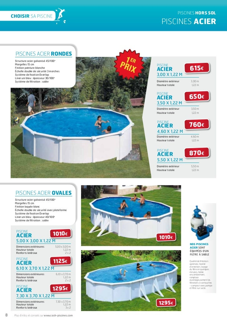 Cash piscines catalogue 2012 choisir sa piscine for Cash piscine oloron