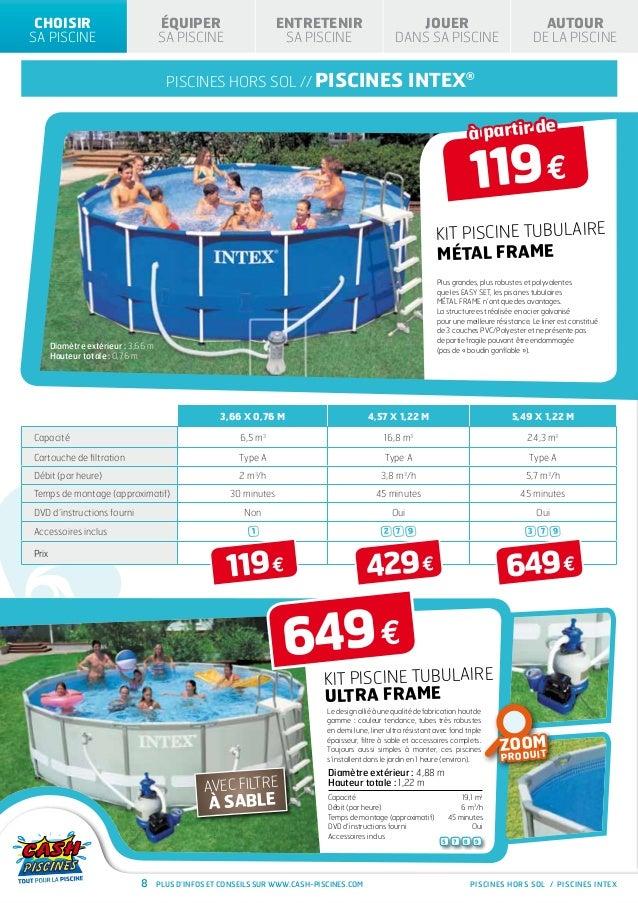 Cash piscine hors sol gallery of pompe et filtre piscine for Cash piscine robot