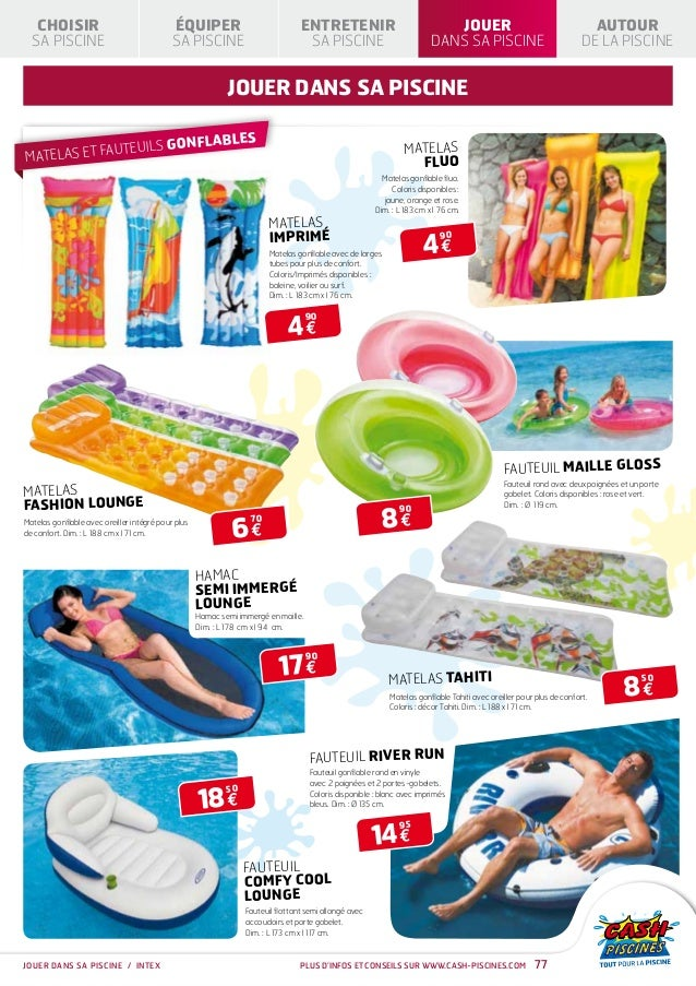 Cash piscines catalogue 2013 jouer dans sa piscine for Cash piscine
