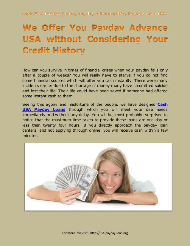Cash usa payday loans  apply and get loans immediately