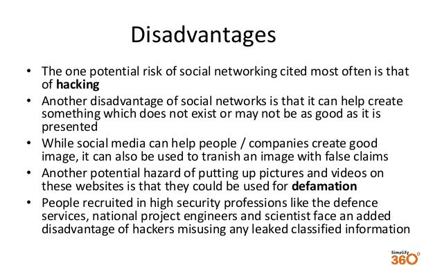 Disadvantages of using social media for business communications?