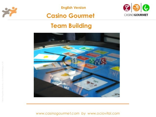 Team Building Casino Gourmet - English